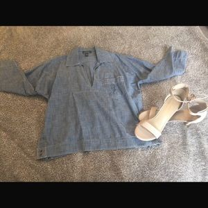 ❤️❤️ RALPH LAUREN RRL Denim Long Sleeve Top
